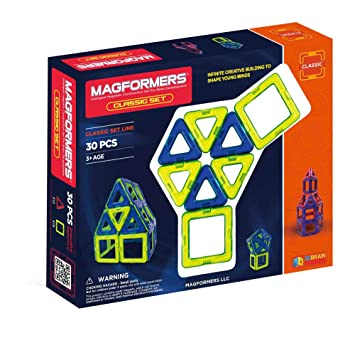 Amazon Magformers Classic 30 Pieces Set Magnetic Building