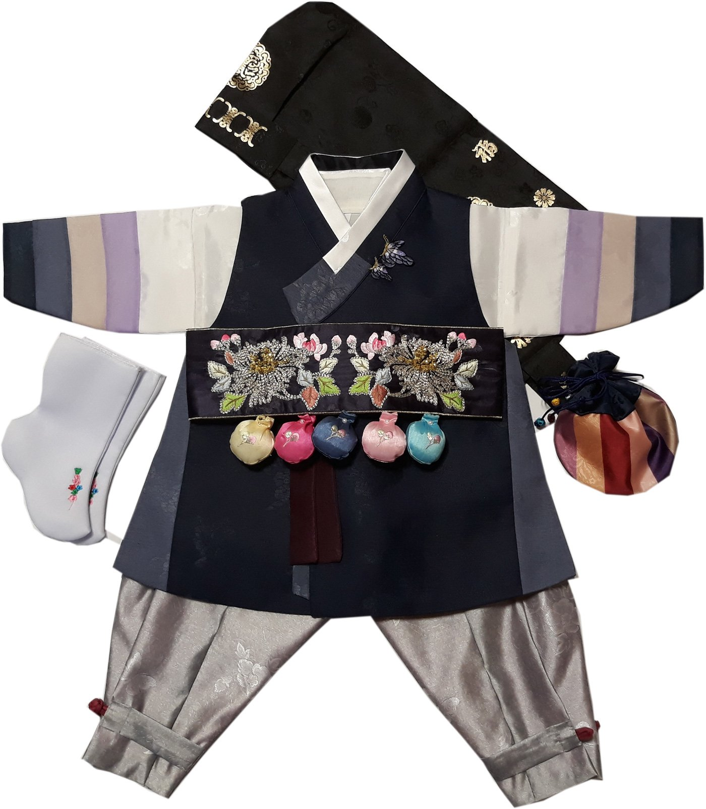 Hanbok Boys Babies kids Korean traditional costumes HANBOK 1st Birthday DOLDBOK hb1003/f