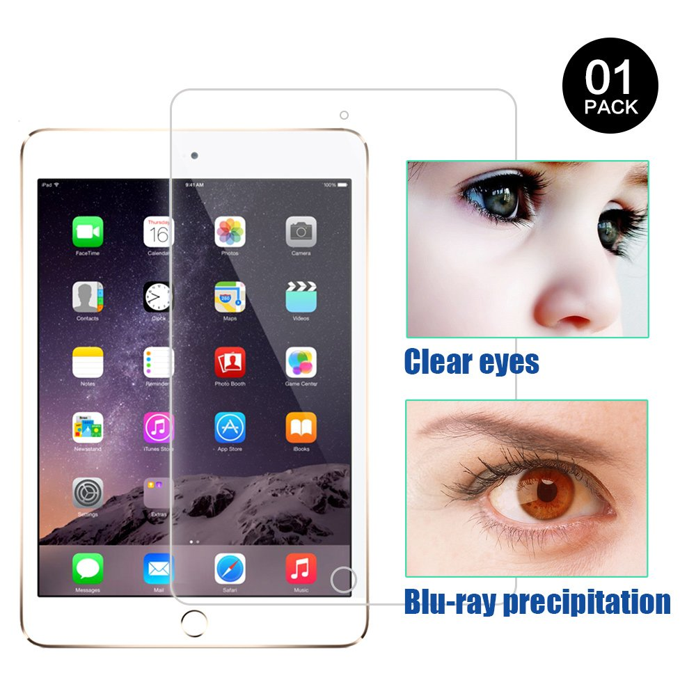 PERFECTSIGHT Screen Protector Replacement for Apple iPad Pro 12.9 Inch [Anti-Glare] Blue Light Filter 9H 3D Touch Compatible Anti Scratch Fingerprint Proof Tempered Glass Film