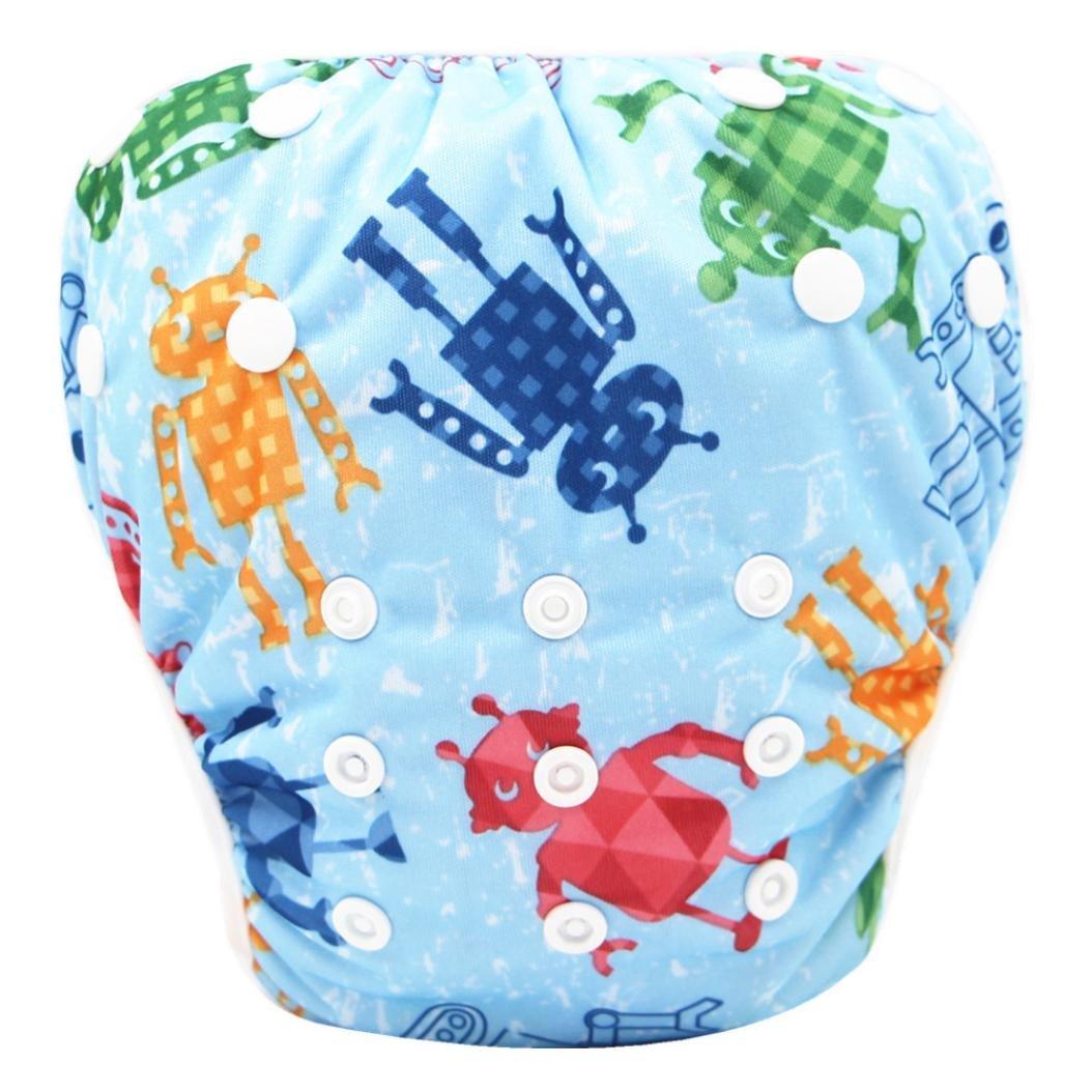 Pañales bañadores ❤ Amlaiworld Pañal Bañador Bebé recién nacido niño niña Lindo patrón trajes de baño Natación troncos Pantalones cortos de pañales 0-3 ...