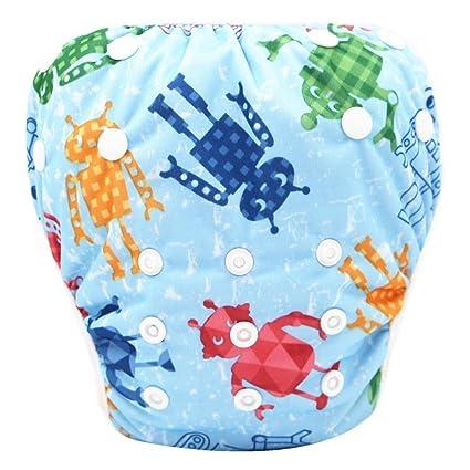 Pañales bañadores ❤ Amlaiworld Pañal Bañador Bebé recién nacido niño niña Lindo patrón trajes de