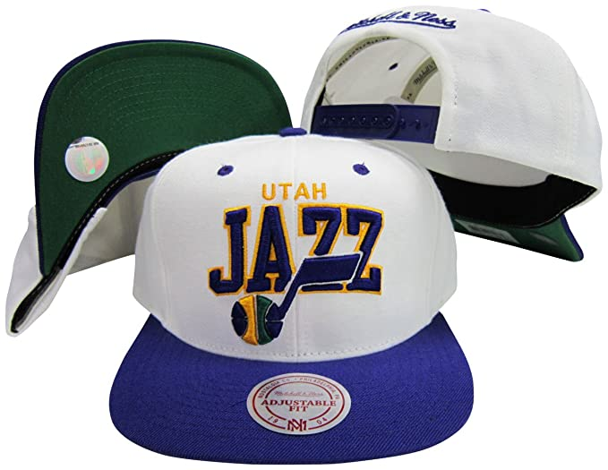 15eff5ad8d0 Image Unavailable. Image not available for. Color  Mitchell   Ness Utah Jazz  White Purple ...
