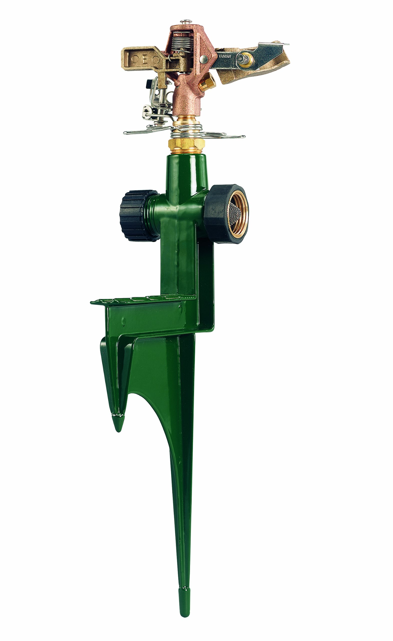 Orbit 58214N Brass Impact Sprinkler on Heavy-Duty Step Spike
