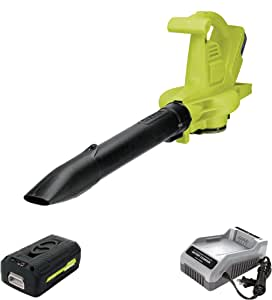 Sun Joe IONBV-XR 40V Variable-Speed Cordless Blower/Vacuum/Mulcher, Kit (w/5.0-Ah Battery + Quick Charger)