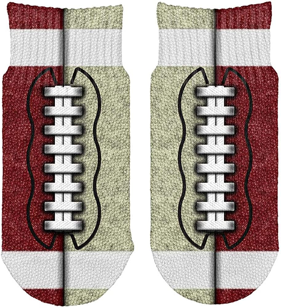 Fantasy Football Team Maroon and Gold All Over Toddler Ankle Socks