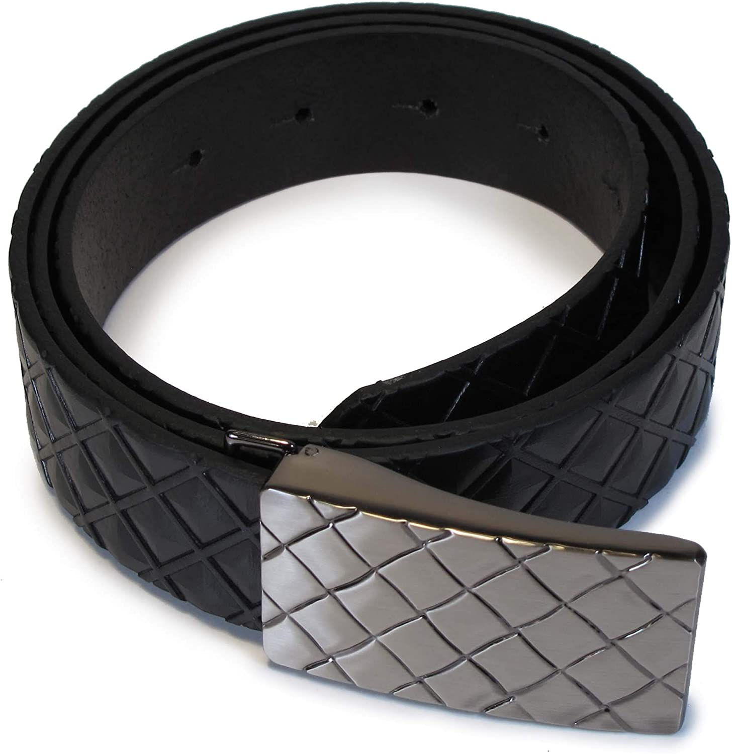 Mens Real Genuine Leather Belt Black Brown White 1.25 Wide S-L Casual Jeans CA2