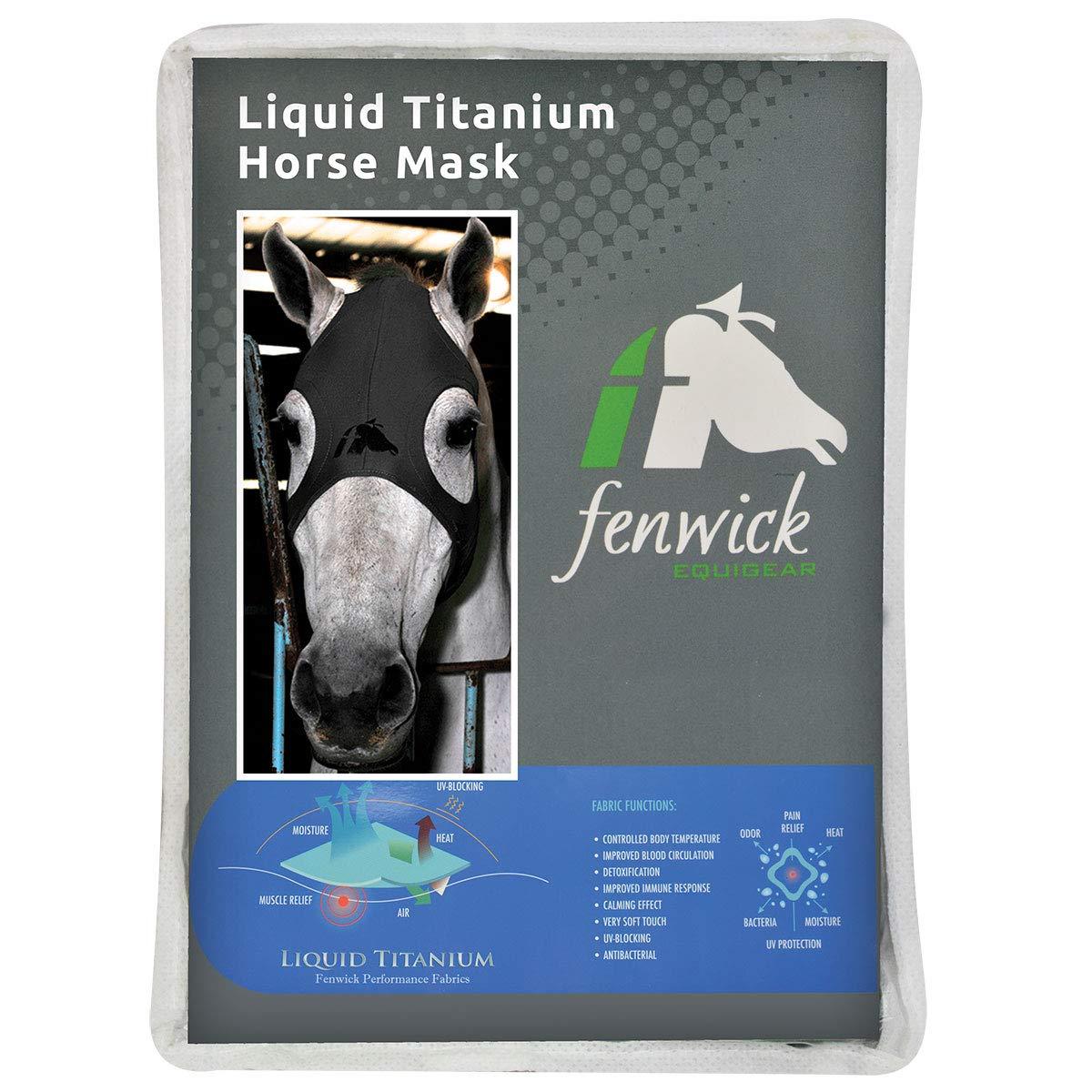 Fenwick Liquid Titanium Therapeutic Horse Mask - Medium - Grey by Fenwick