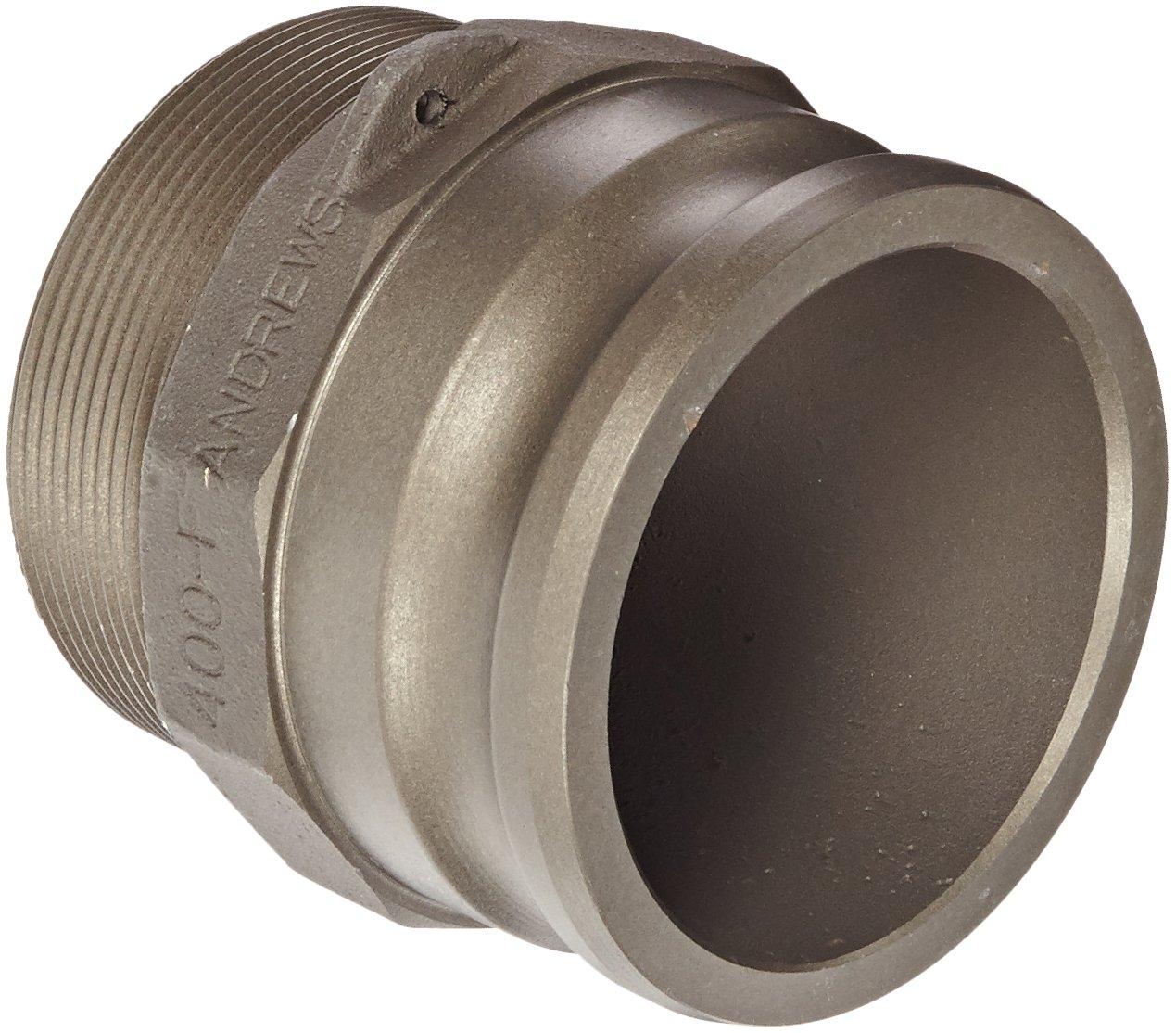 Dixon Valve 400-F-ALH Aluminum Hard Coat Boss-Lock Type F Cam and Groove Fitting 4 Male Adapter x 4 NPT Male 4 Male Adapter x 4 NPT Male Dixon Valve /& Coupling