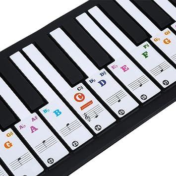 Xatan - Pegatina para Teclado de Piano, Transparente, extraíble para 37/49/