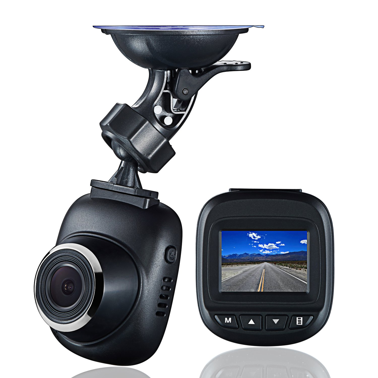 Dash Cam by Fliiners Mini LCD Car Dvr Camera Recorder with FHD 1080P, Night Vision, Loop Recording for drivers