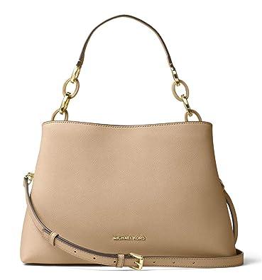 ab46c28b66fd MICHAEL Michael Kors Leather East West Portia Large Shoulder Handbag  (Bisque)  Handbags  Amazon.com