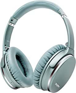 Noise Cancelling Headphones Wireless Bluetooth 5.0,Fast Charge Over-Ear Lightweight Srhythm NC35 Headset with Microphones,Mega Bass 40+ Hours' Playtime -Low Latency(Mint Green)