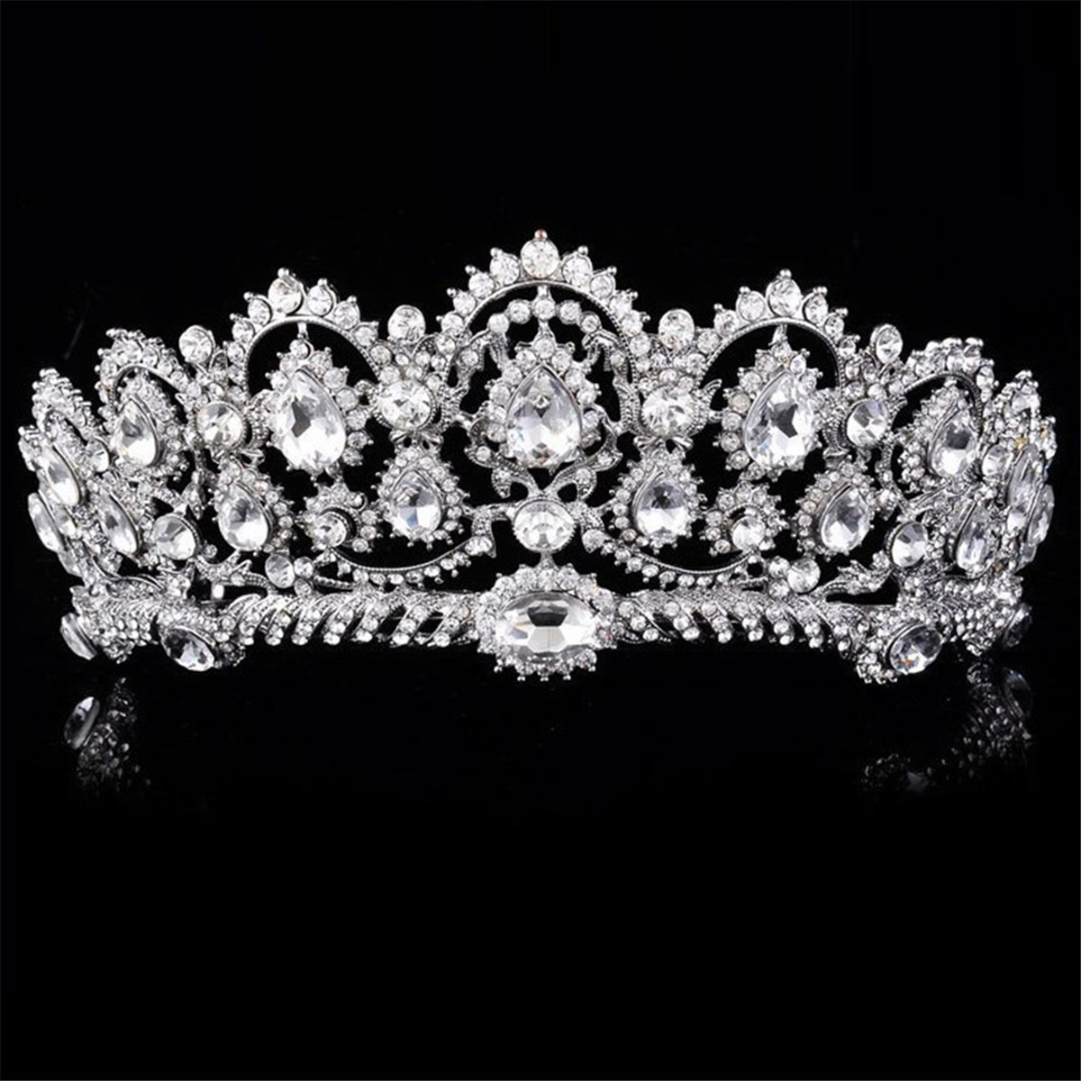 Amazon com crown tiara prom queen crown quinceanera pageant crowns princess crown rhinestone crystal bridal crowns tiaras crown and tiara for girls
