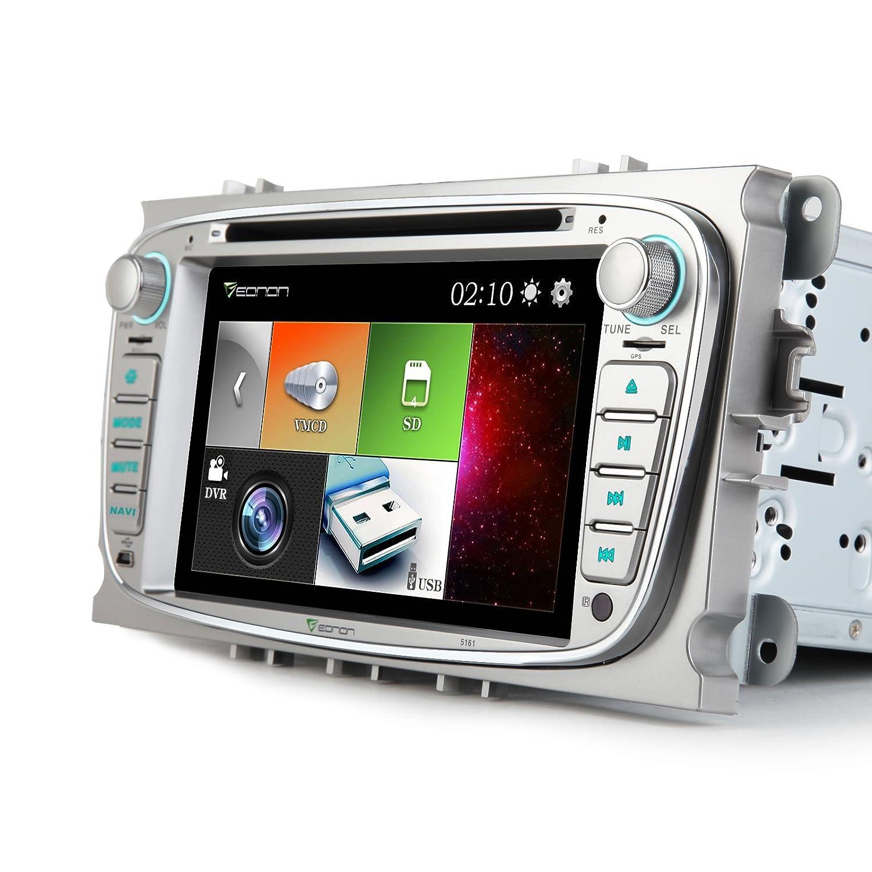 Eonon D5161E 7 Zoll Doppel 2 DIN Autoradio in silber Amazon Elektronik