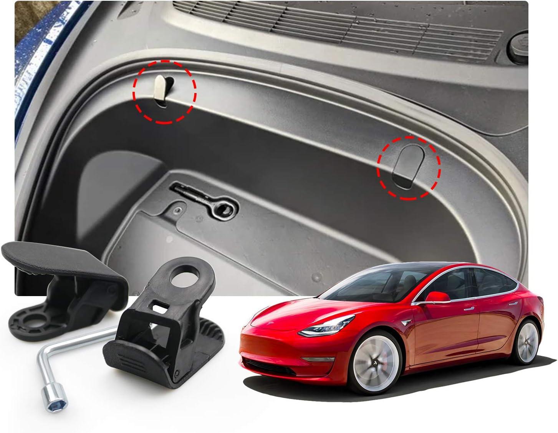 2PCS Tesla Model 3 2020 Accessories,Model 3 Frunk Hooks Compatible for Tesla Model 3 Grocery Hooks,Keep Grocery Organized and Clean