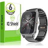 IQShield Asus Zenwatch Screen Protector, LiQuidSkin Full Coverage Screen Protector for Asus Zenwatch (49mm 6-Pack) HD Clear Anti-Bubble Film