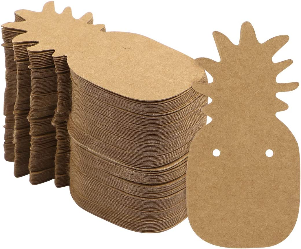SUPVOX 200pcs Papier Kraft Cartes Affichage Carton Boucles doreille Support Bijoux Suspend