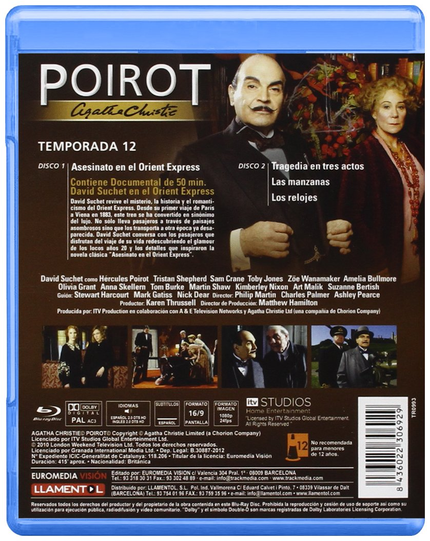 Amazon.com: Agatha Christies Poirot (Season 12) - 2-Disc Set (The Clocks / Three Act Tragedy / Halloween Party / Murder on the Orient Express)  [ NON-USA ...