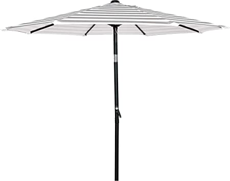 8/' Patio Umbrella Cover Top 8 Rib Outdoor Gazebo Beach Garden Pool Yard Beige