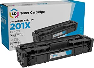 LD Compatible Toner Cartridge Replacement for HP 201X CF401X High Yield (Cyan)