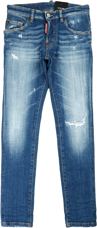 DSQUARED2 Jeans Skater Jean Denim Medio Bambino Kids Boy MOD DQ03LD