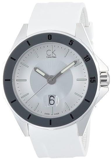 Calvin Klein K2W21YM6 - Reloj Analógico Para Mujer, color Blanco
