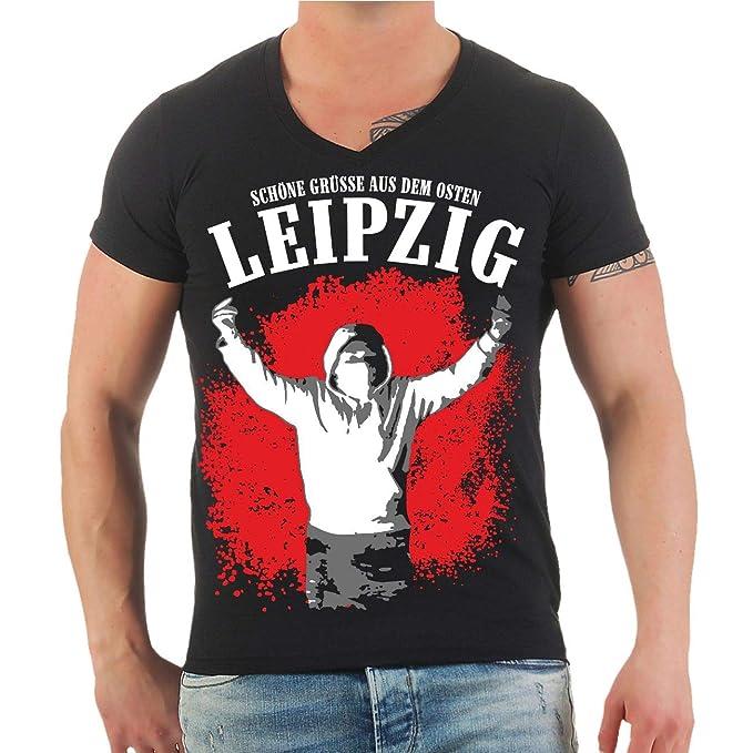 Männer und Herren T-Shirt Leipzig Schöne Grüße aus dem Osten Größe S - 8XL   Amazon.de  Bekleidung 4f392e9bff