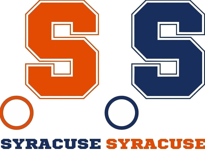 Syracuse Cornhole Decals – 6 Cornhole Decals – 2フリーウィンドウデカール B079G5XJZG Blue/Orange (As shown)
