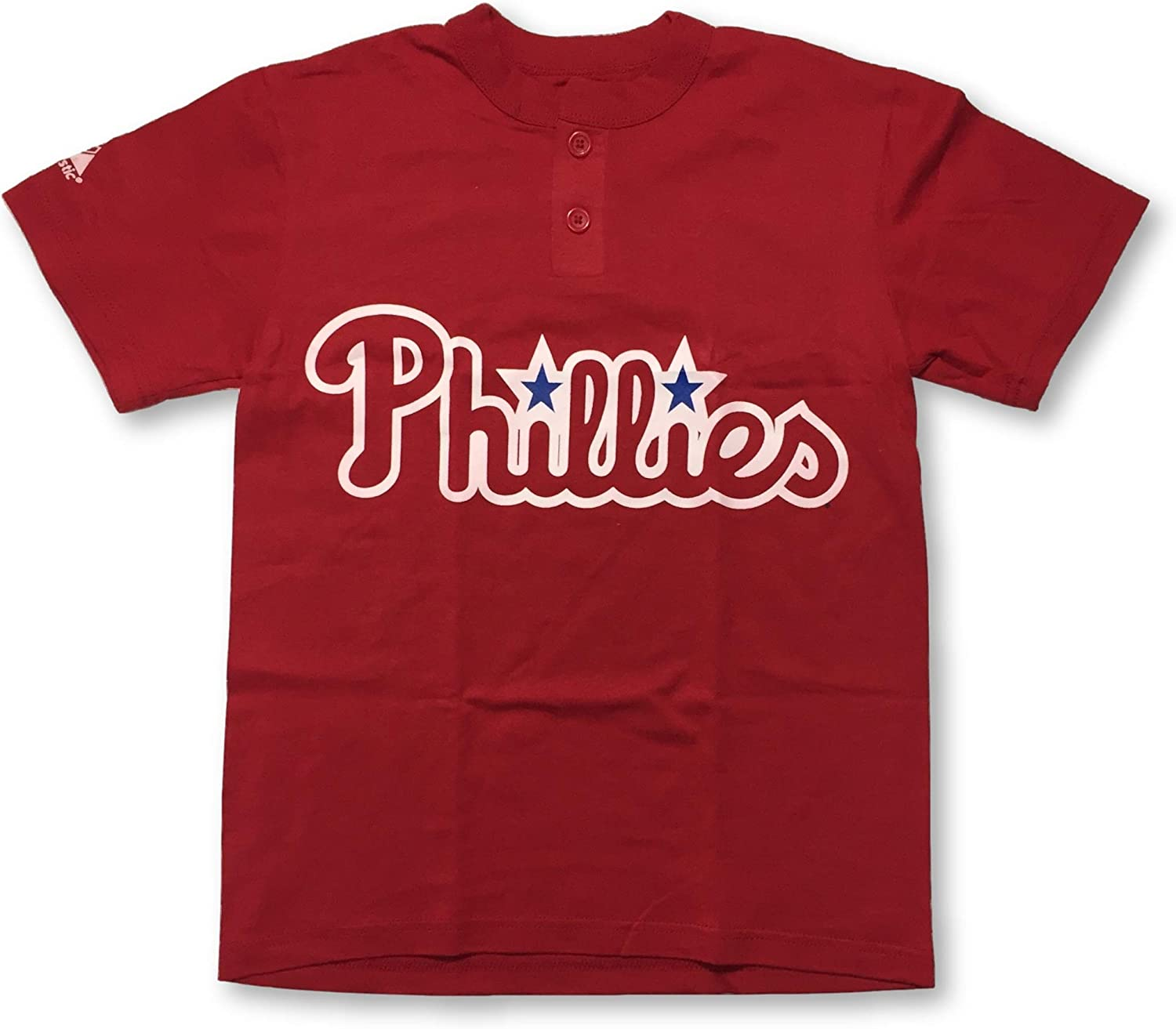 Youth Medium Two Button MLB Officially Licensed Majestic Major League Baseball Replica Jersey Philadelphia Phillies
