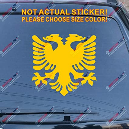Coat of arms Albania Car Sticker Black Decal Double-Headed Eagle 2/'/' 8/'/' 20/'/'