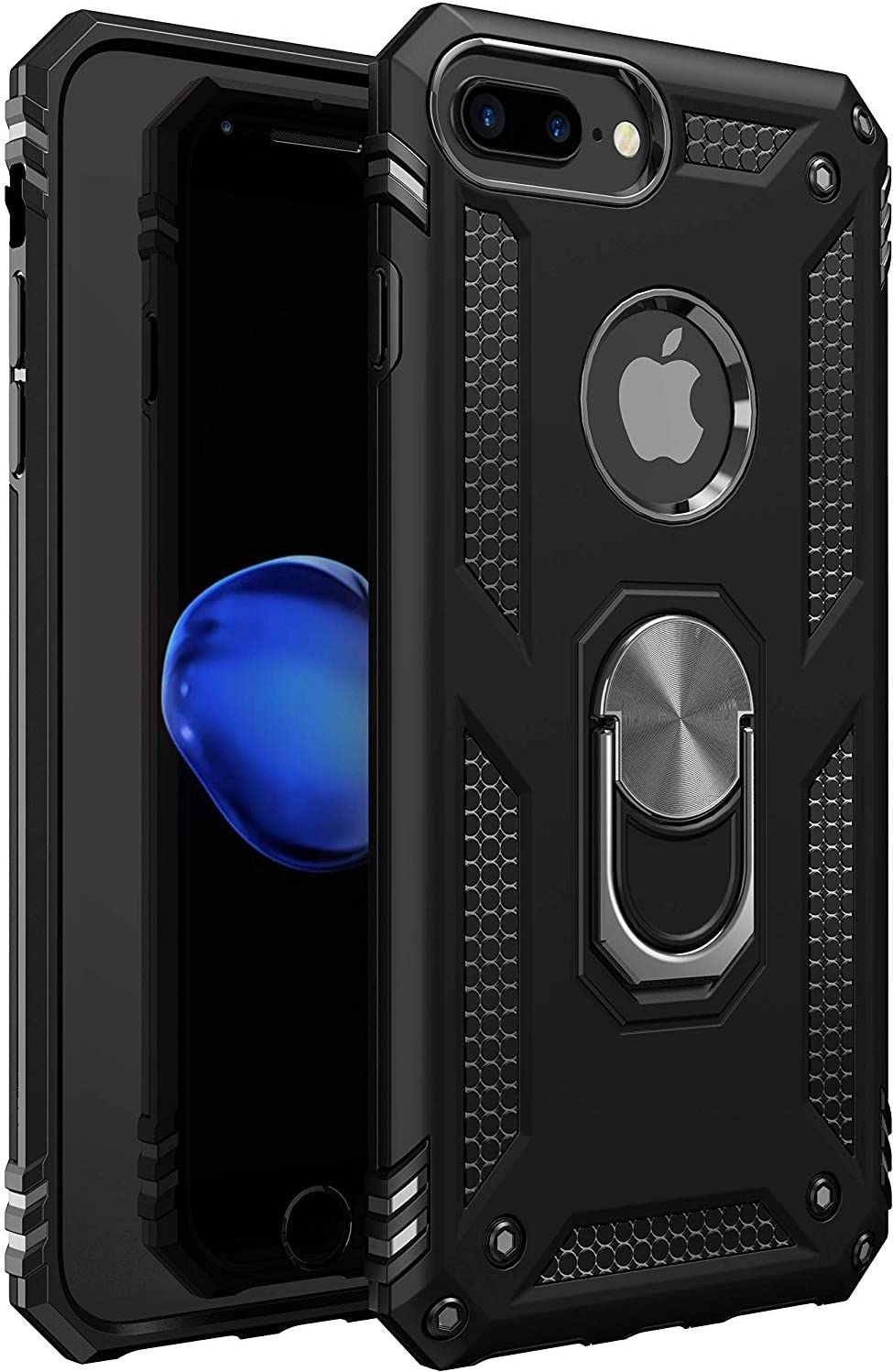 iPhone 7 Plus Case | iPhone 8 Plus Case [ Military Grade ] 15ft. Drop Tested Protective Case | Kickstand | Compatible with Apple iPhone 8Plus / iPhone 7 Plus-Black