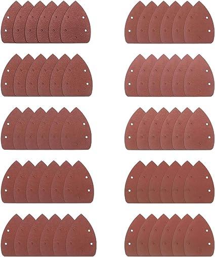 100 grana 60 5 fori Carta abrasiva assortiti 80 fogli di carta abrasiva 120 fogli abrasivi 40 dischi abrasivi
