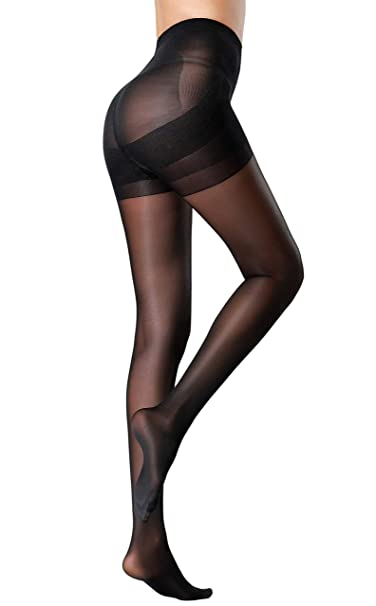 67946537e MERYLURE Sheer Back Seam Pantyhose Reinforced Crotch Tights for Women   Amazon.ca  Clothing   Accessories