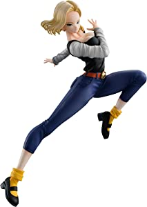 Megahouse Dragon Ball Gals: Android 18 (Version 4) PVC Figure, Multicolor