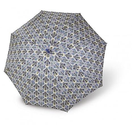 Paraguas largo mujer estampado fantasia Vogue automatico antiviento azul