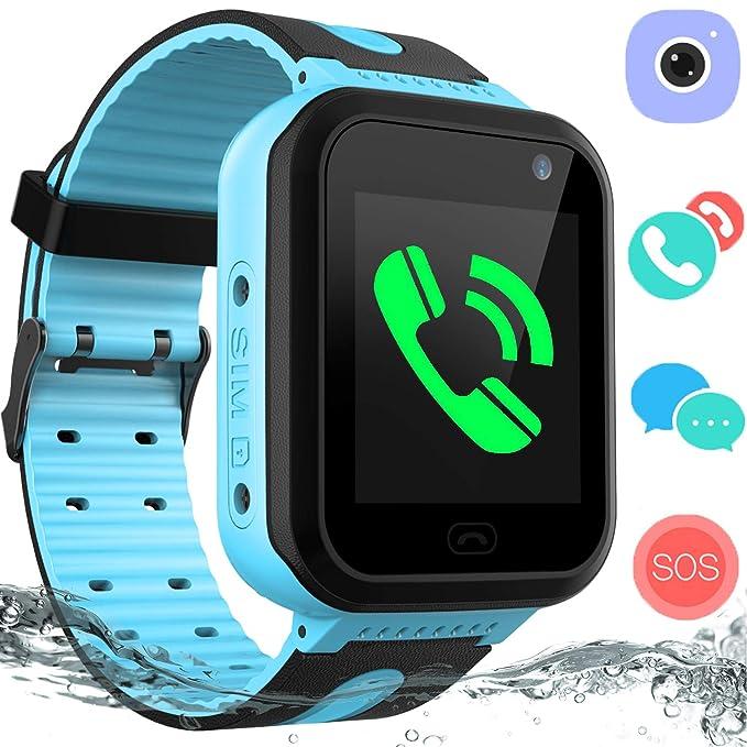 936f378ea Kids Waterproof Smart Watch Phone – GPS Tracker Smartwatch for Boys Girls  Digital Watch with SOS