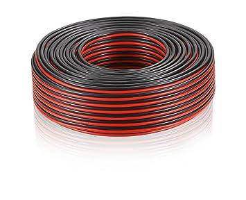 MANAX/® cable del altavoz 2 x 0,75 mm/² 10 m blanco Anillo
