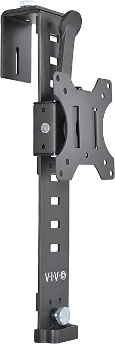 VIVO Black Office Cubicle Bracket VESA Monitor Mount Stand Hanger Attachment, Adjustable Clamp for 17 to 32 inch Screens (Mount-CUB1)