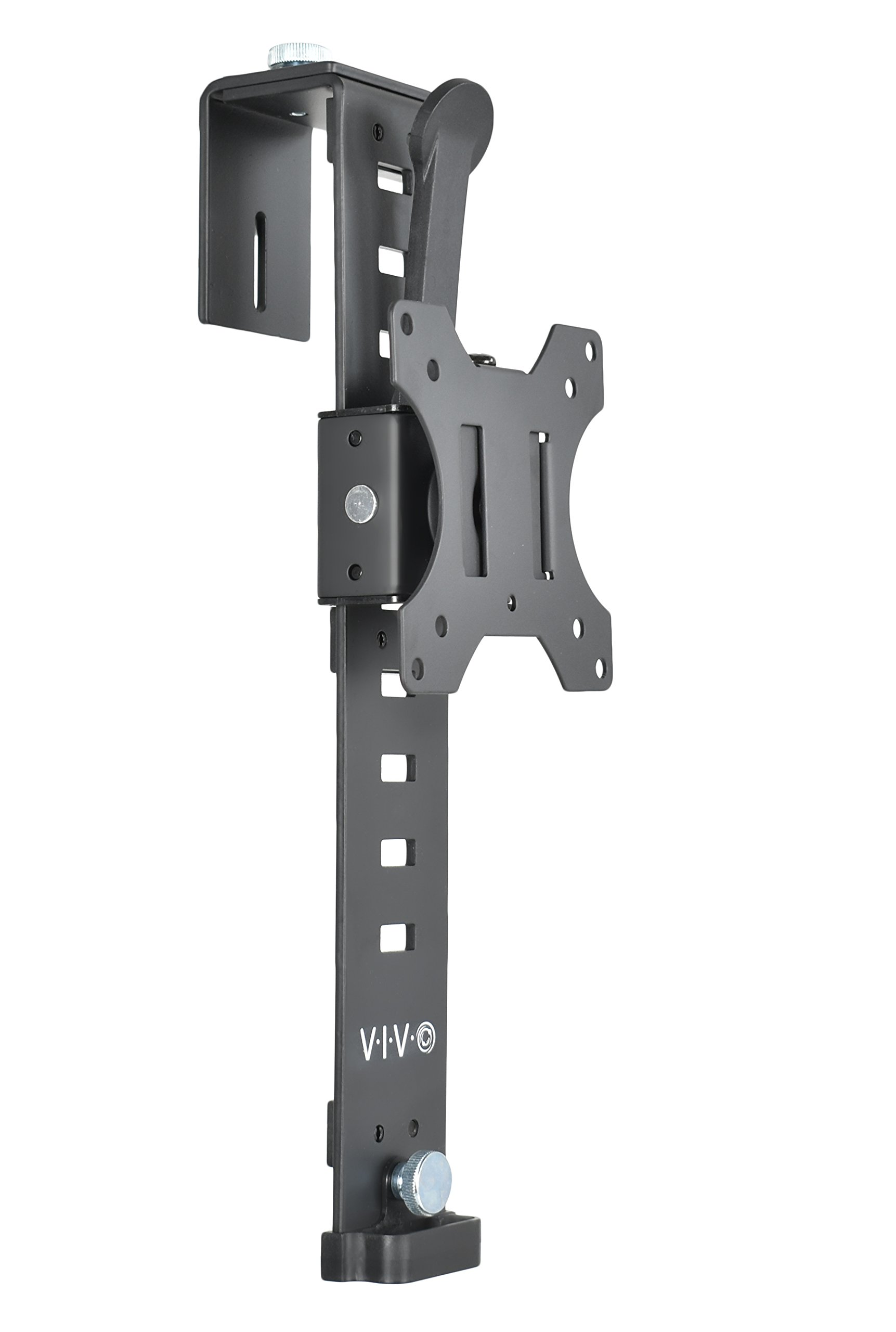 VIVO Black Office Cubicle Bracket VESA Monitor Mount Stand Hanger Attachment Adjustable Clamp for 17'' to 32'' Screen (MOUNT-CUB1)
