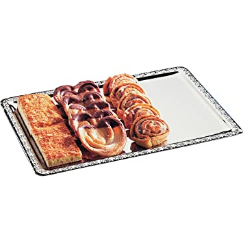 Hendi 412107 Bandeja de buffet, rectangular, acero inoxidable
