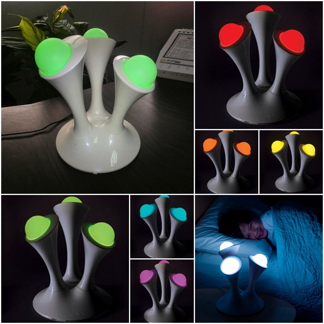 1Pc Paradisiacal Popular 7 Color Changing LED Nightlight Removable Balls Multicolor Style Kids Toy Light Colorful