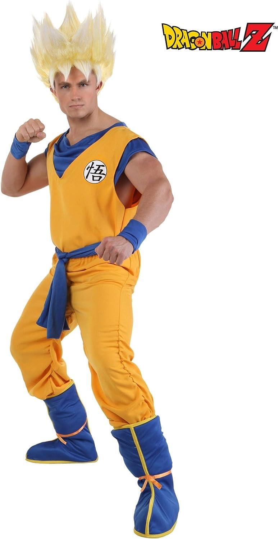 Adultos Super Saiyan Goku disfraz - Anaranjado -: Amazon.es: Ropa ...