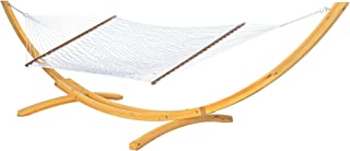 product image for Hatteras Hammocks P-13Large PolyesterRope Hammock with Free Extension Chains & Tree Hooks, Handcrafted in The USA, Accommodates 2 People, 450 LB Weight Capacity, 13 ft. x 55 in.