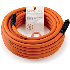 Hybrid Air Hose 3/8 in. x 50 ft.1/4 in  - Best Compressed Air Line Kit