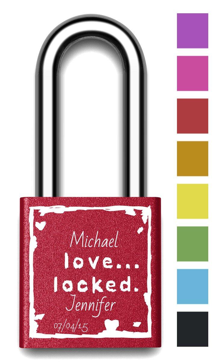 Customizable MakeLoveLocks - Love Locked 2'' Red