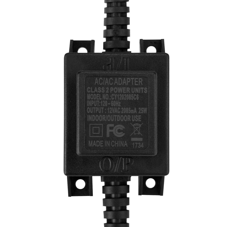 AGPTEK Voltage Converter Transformer 110/120V to AC 12V/2.1A, 25-Watt Waterproof Power Supply Converter Swimming Pool Light, Water Pump, Outdoor Light, Spotlights