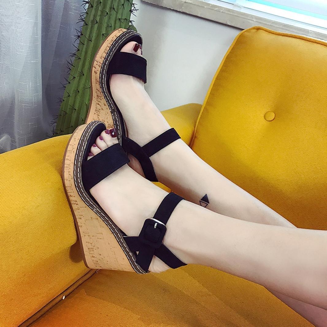 371d66be9d9 Amazon.com  Hemlock Women Lady High Heel Sandals Wedge Sandals Peep Toe  Sandals (US 5.5