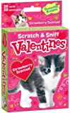 Peaceable Kingdom 28 Card Kitty Strawberry Scented Scratch & Sniff Valentines with Envelopes
