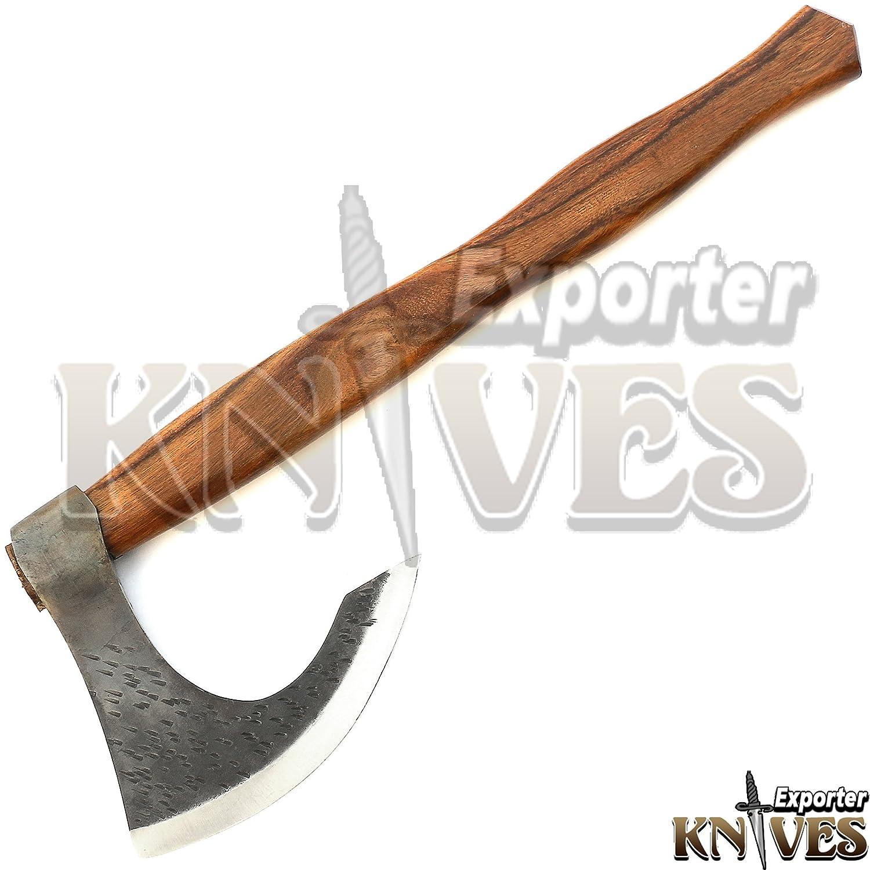 Amazon.com: S465 - Hachuelo de acero forjado a mano (1095 ...