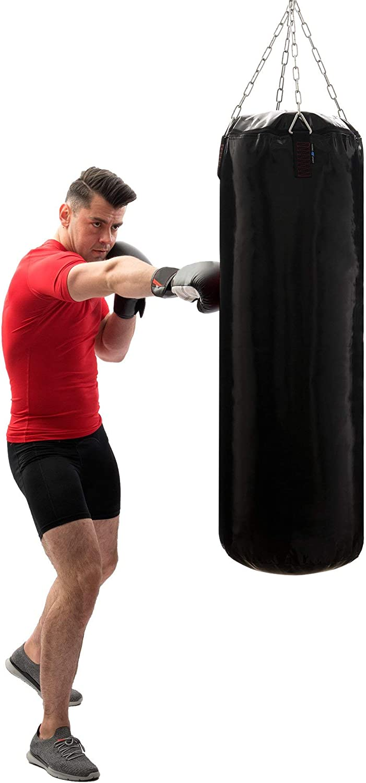 Made in EU Marbo Sport Saco de Boxeo Negro sin Relleno Torpedo 100//130//140//150//180 x 35//45 cm para Elegir